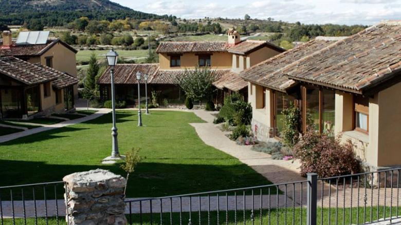 Jardin y edificios